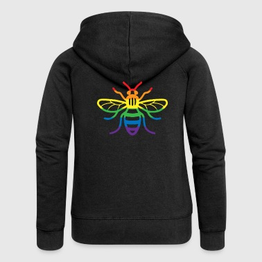 Gay Pride Bee - Women's Premium Hooded Jacket