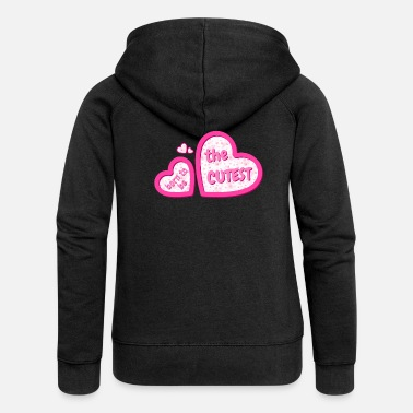 Glamour BORN TO BE THE CUTEST - Women's Premium Zip Hoodie