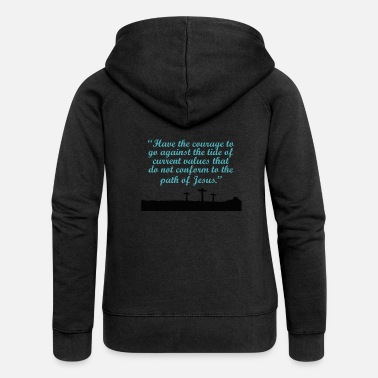 Fearless god - Women's Premium Hooded Jacket