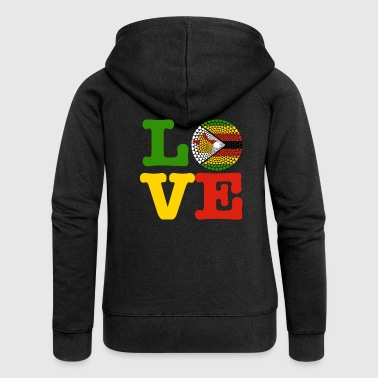 Zimbabwe ZIMBABWE HEART - Women's Premium Hooded Jacket