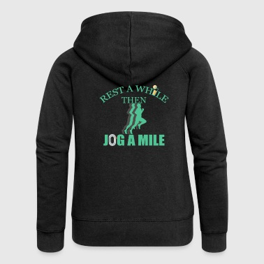 Jog a mile - Women's Premium Hooded Jacket