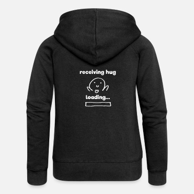 Receiver receiving hugwhite receiving hug loading gift - Women's Premium Zip Hoodie