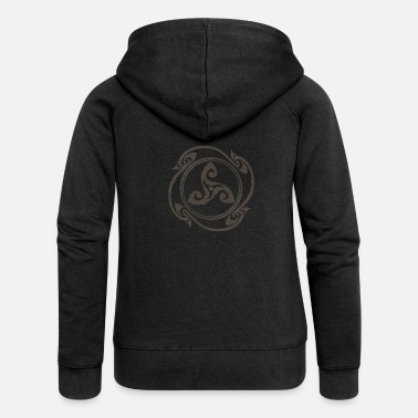 Symbol Latene Celtic symbol mottled gray - Women's Premium Zip Hoodie