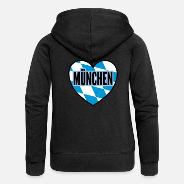 Munich city gift - Women's Premium Zip Hoodie