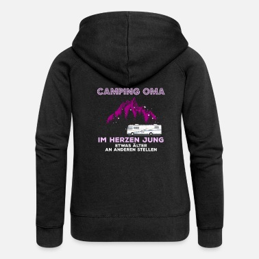 Motorhome Camping Granny In The Heart Jung Gift Motorhome - Women's Premium Hooded Jacket