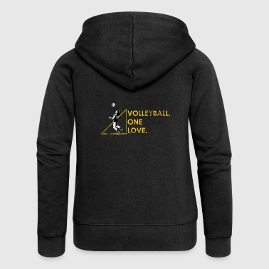 Volleyball Gift Beach Volleyball Volleyballer - Women's Premium Hooded Jacket