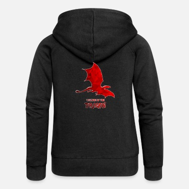 Red The Red Dragon - Women's Premium Zip Hoodie