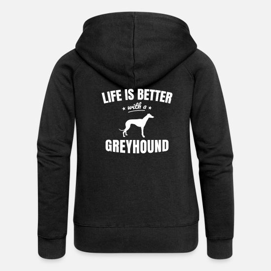 Greyhound Hoodies & Sweatshirts - Greyhound - Women's Premium Zip Hoodie black