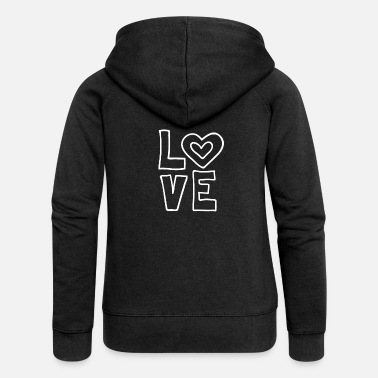 Lovely Love love valentines day romantic heart heart kiss - Women's Premium Zip Hoodie