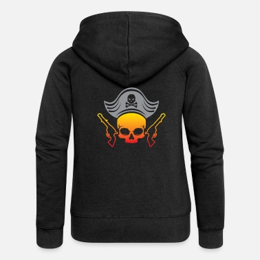 Pirate Flag Pirate, piracy, pirate flag - Women's Premium Hooded Jacket