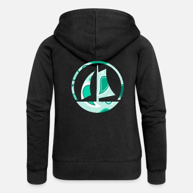 sailboat - Women's Premium Zip Hoodie