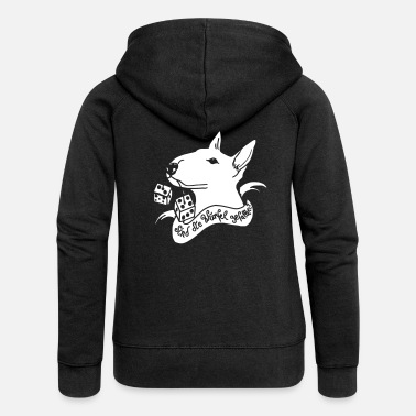 Bull Terrier Have the dice fallen? - Women's Premium Zip Hoodie