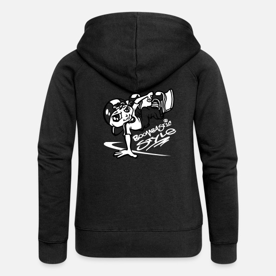 Skateboard Hoodies & Sweatshirts - Skateboarder flex - Women's Premium Zip Hoodie black