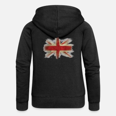 Commonwealth UK Flag Union Jack Ragged Shirt blue - Women's Premium Zip Hoodie