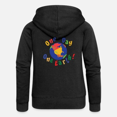 Eco Earth Day One Day One Earth - Women's Premium Zip Hoodie