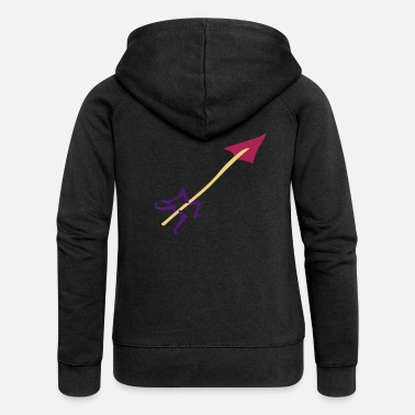 Stag Underwear Symbol - Shooting Arrow - Women's Premium Zip Hoodie