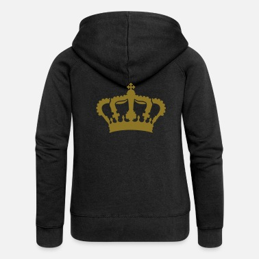 Brilliant royal_crown_g1_4c - Women's Premium Zip Hoodie