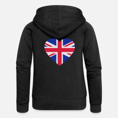 Uk Underwear Heart Britain - Women's Premium Zip Hoodie