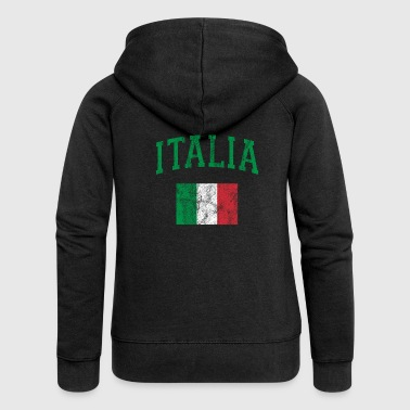 Italia Shirt Italy Flag Shirt Italian - Women's Premium Hooded Jacket