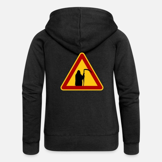 Death Hoodies & Sweatshirts - Reaper - Women's Premium Zip Hoodie black