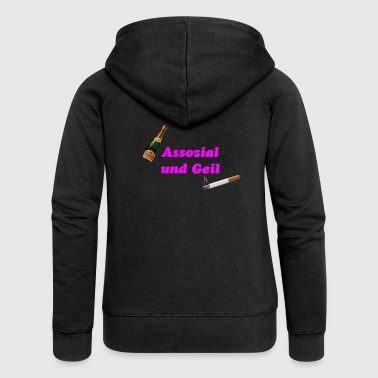 Associal and horny - Women's Premium Hooded Jacket