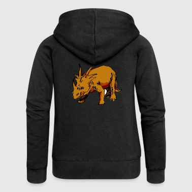 Triceratops - Women's Premium Hooded Jacket