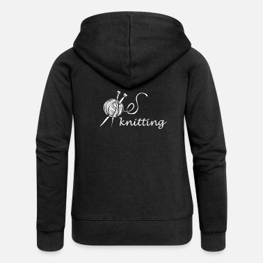 Knitting Knit Knitting Knit - Women's Premium Zip Hoodie