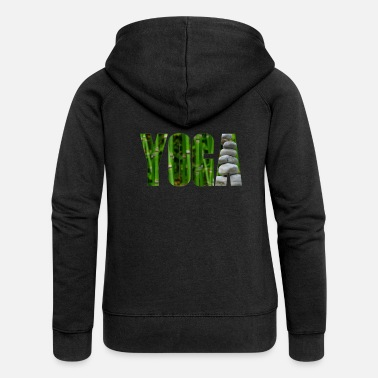 Yoga bamboo with stones - Women's Premium Zip Hoodie