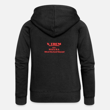 Vestes-de-survetement Xtrem Bodybuilding 100% Shut up and Squad - Veste à capuche premium Femme