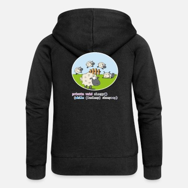 Sheep While Not Sleep - Sheep ++ - Women's Premium Hooded Jacket