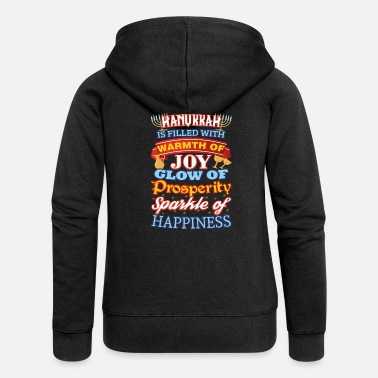 Happiness Hanukka Happiness Joy Prosperity Happiness - Naisten Girlie svetaritakki premium