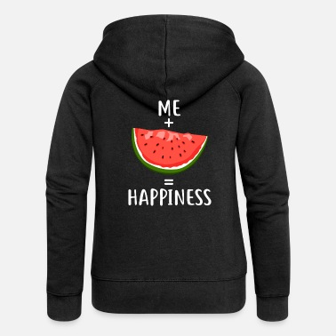 Happiness Me + Watermelon = Happiness - Vrouwenjack met capuchon Premium
