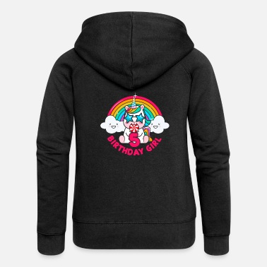 2015 Birthday unicorn 5 year gift - Women's Premium Zip Hoodie