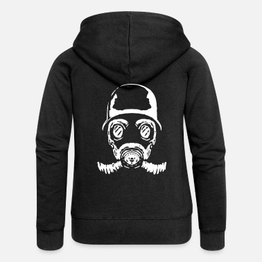Illegal 005 gasmask 23 - Women's Premium Hooded Jacket