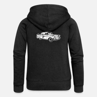Chevy Chevy Bel Air / Oldtimer 01_white - Women's Premium Hooded Jacket