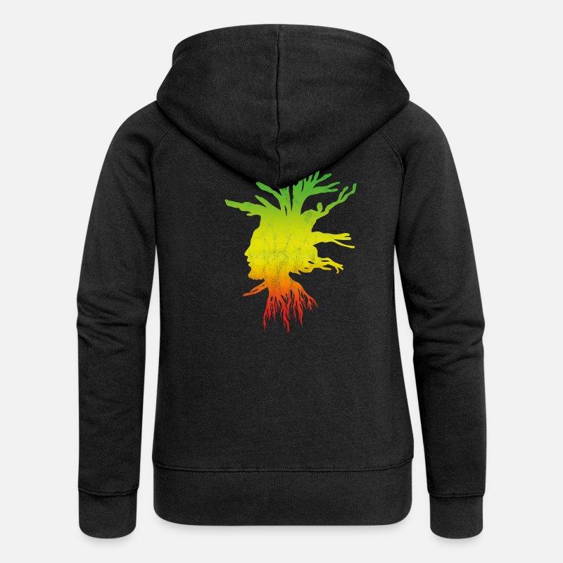Rasta Roots Jacket Jacke Jumper Reggae Jamaica Flag Schwarz