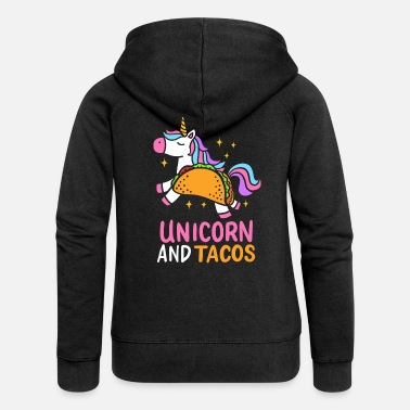 May Unicorn And Tacos Magical Chili Mexican Food Gift - Women's Premium Zip Hoodie