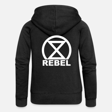 Nature Rebel Hourglass Climate protection Environmental protection Nature conservation - Women's Premium Zip Hoodie
