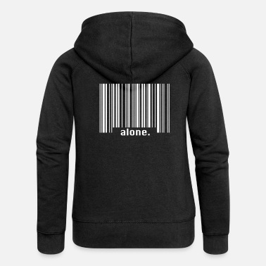 Loneliness Barcode - loneliness - Women's Premium Hooded Jacket