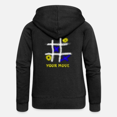 Tic Tac Toe tic tac toe | - Women's Premium Hooded Jacket