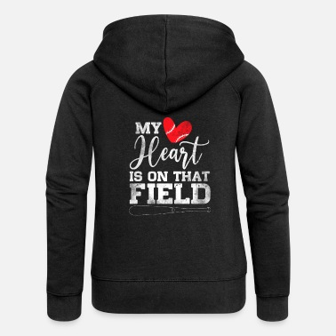Helm My Heart Is On That Field Baseball - Frauen Premium Kapuzenjacke