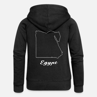 Map Egypt map map - Women's Premium Zip Hoodie