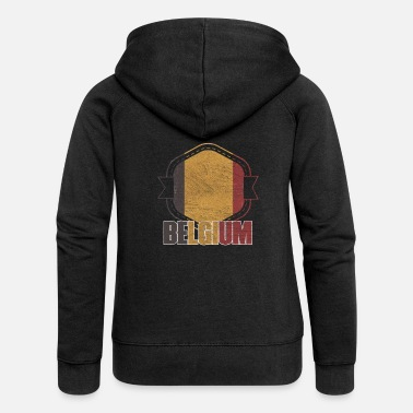 National Color Belgium national colors nation - Women's Premium Zip Hoodie