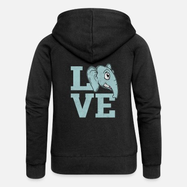7299f8665 Animal Love Love elephant animals love animal love animal lover -  Women  39 s. Women s Premium Zip Hoodie