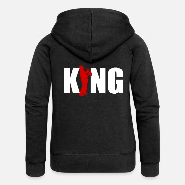 Saxeophonist Saxophone Saxophonist King King Orchestra Musician - Women's Premium Zip Hoodie