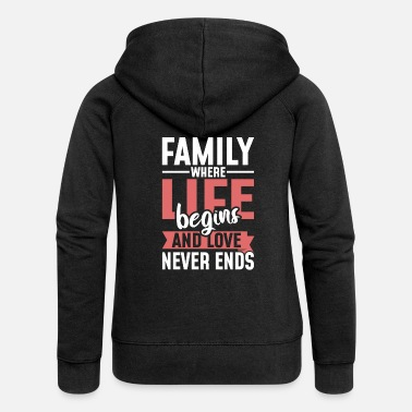 Family Values Family celebration Family Family values Mother Father - Women's Premium Zip Hoodie