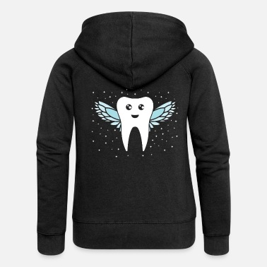 Tooth Tooth fairy tooth - Women's Premium Zip Hoodie