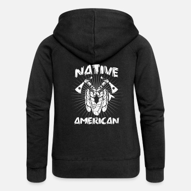 American Indian Native American Indian Native American Indian - Women's Premium Zip Hoodie