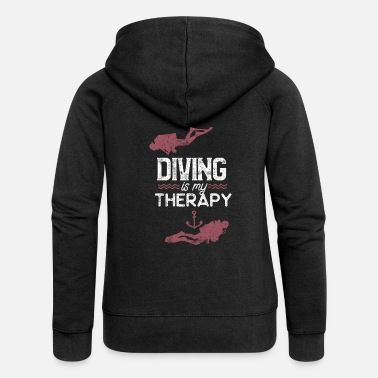 Dive Dive diving - Women's Premium Zip Hoodie