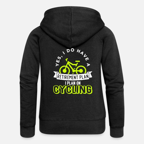 Cycling Hoodies & Sweatshirts - Bicycle Bike Cycling Cycling Cycling - Women's Premium Zip Hoodie black